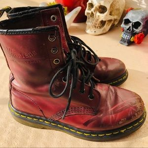 Cherry red dr. Marten combat boots 💘✨❣️